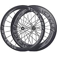 [VCYCLE nopea] ruote in carbonio 700C tubolare fronte 50mm dietro 88mm regolare route per le corse su strada in bicicletta - 130 Mm Mozzo Posteriore