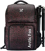 Arctic Fox Camera Bag for Polariod/DSLR Camera with Lens, 15.5 Inch Laptop and Tripod Holder (Red)