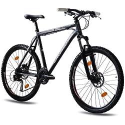 CHRISSON - COLONISATOR Bicicleta de montaña, tamaño 26'' (66,0 cm), color negro matt, 24 velocidades