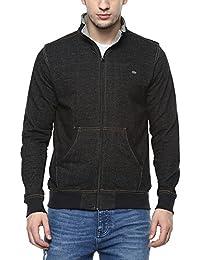 Proline Mens Zip Through Neck Slub Sweatshirt