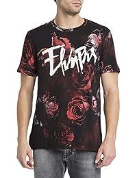 ELEVEN PARIS - T-shirt - Homme - Tshirt Rose Noir pour homme