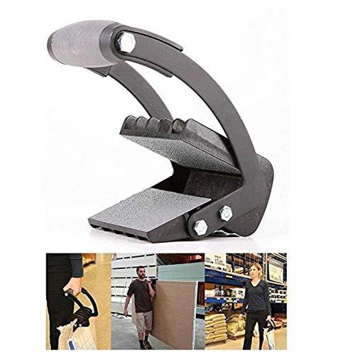 Xinnegen Arbeitssparende Holzplatte Heber, Gipskartonträger Holzplatte Heber Bauarbeit Handwerkzeug Greifer Panel Carrier (Schwarz)