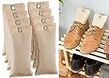 newgen medicals Deodorizer: 2in1-Schuh-Erfrischer mit Bambus-Aktivkohle, geruchsmildernd, 8x 75 g