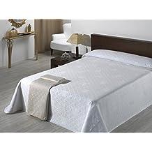 Sabanalia Giovanna - Colcha de piqué (disponible en varios tamaños y colores), para cama 180 - 280 x 280 cm, blanco