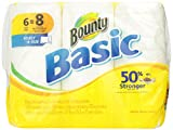 Basic Paper Towels 6 Select-A-Size Big Rolls by Bounty