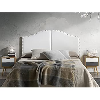 t te de lit lyon avec des punaises 160x95 blanc cuisine maison. Black Bedroom Furniture Sets. Home Design Ideas