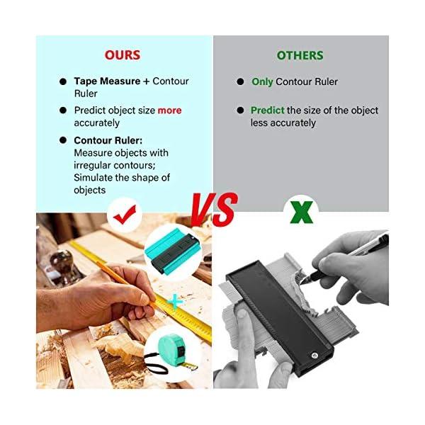 MOHOO-Contour-Duplicator-Gauge-Profilo-Strumento-di-Misurazione-Irregolare-Profile-Misuratore-Calibro-di-Contorno-di-Plastica-Calibro-di-Profilo-dellABS