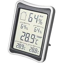 Dricar Termómetro Higrometro Digital con LCD Pantalla Medidor Temperatura y Humedad