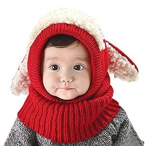 RUIXIA Bonnet Hiver pour Bébé Set de 2 pièces Ensemble Echarpe ... 58c2fd2627b