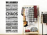 Klebeheld® Wandtattoo Willkommen an Dieser Garderobe
