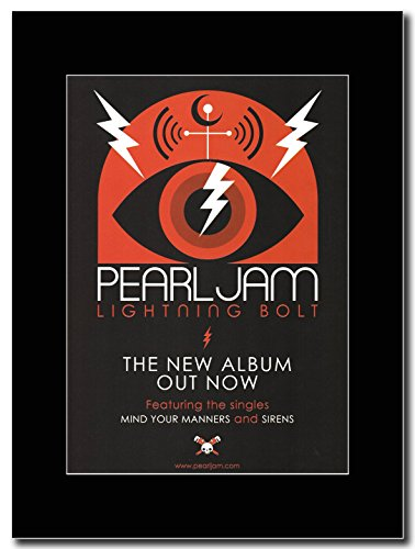 Pearl Jam - Lightning Bolt Magazine Promo on a Black (Pearl Jam Memorabilia)