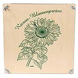 Bartl 101669 Riesen-Blumenpresse aus Holz 30 cm x 30 cm Top Qualität. Made in Germany.