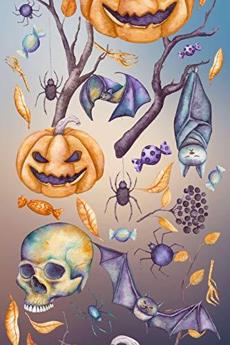 Carnet de Notes: Halloween - Petit journal personnel de 121 pages lignées avec couverture et pages sur le thème d'Halloween par Virginie Polissou