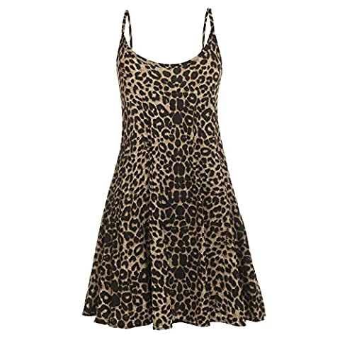 Oops Outlet - Robe - Sans manche - Femme Leopard - Animal Cheetah Print Franki