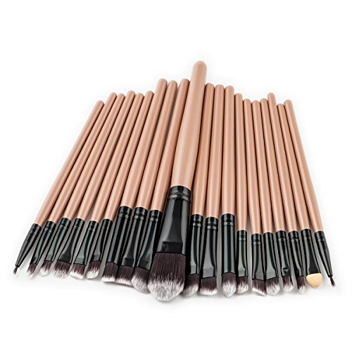 Professionnel Kit de 20 Pinceaux Maquillage - Brosse de Maquillage / Brush Cosmétique Beauté & Make-up Make Up Brush Pinceau cosmétique de qualité (Brun-Noir)