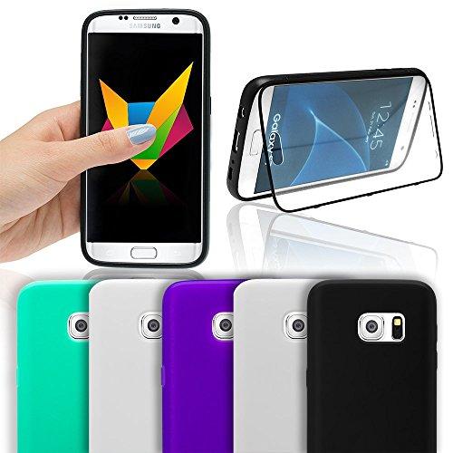 Mobilefox Apple iPhone 6/S Mint Grün Flip Touch Display Schutz Hülle Silikon Tasche Case Bumper Cover Schale Lila