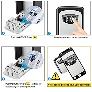 Diyife-Key-Lock-Box-Updated-VersionWall-Mounted-Combination-Key-Safe-Storage-Lock-Box-for-for-Home-Garage-School-Spare-House-Keys