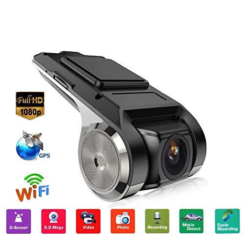 Febelle FHD 1080P 150° Dash Cam, WiFi Integrato, ADAS, G-sensor, Registratore DVR per Auto Registrazione Video Videocamera da Cruscotto