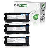Kineco 3 Toner kompatibel für Brother TN-2000 TN2000 für Brother HL-2030, HL-2040, HL-2050, MFC-7820N, MFC-7420, DCP-7010L, Fax 2825 - Schwarz je 3.500 Seiten