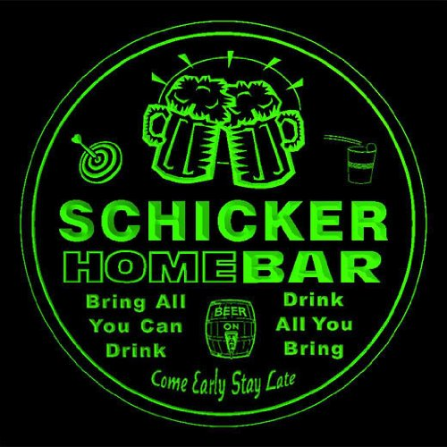 4x-ccq39784-g-schicker-family-name-home-bar-pub-beer-club-gift-3d-coasters