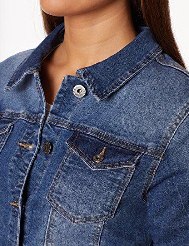 Berydale Damen Jeansjacke mit modischer Waschung, Dunkelblau, Gr. 34 - 5