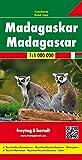 Madagascar, mapa de cerreteras. Escala 1:.000.000. Freytag & Berndt.