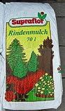 SUPRAFLOR Qualitäts Rindenmulch 70 Liter Garten Mulch (0,14€/L)