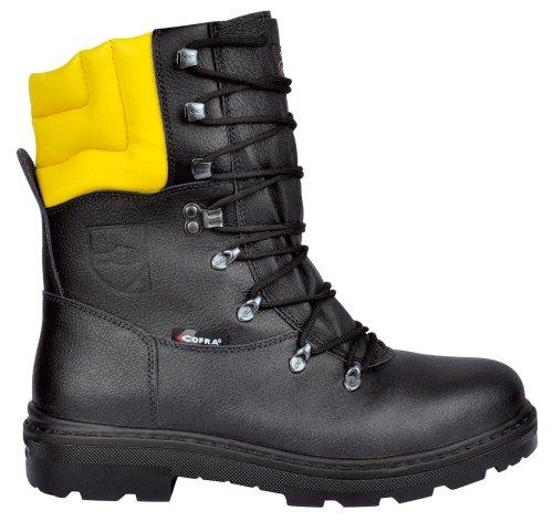 Preisvergleich Produktbild Cofra Schnittschutz-Stiefel Woodsman BIS Forstarbeiter Arbeitsstiefel mit Sägeschutz 44, schwarz, 25580-000