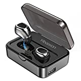 Auricolari Bluetooth 4.2 Cuffie Wireless Sport Auricolari Senza Fili [TWS Tecnologia] Headphone Stereo con Microfono Incorporato e Stazione di Ricarica 2200 mAh per iPhone X/8/8 Plus/7/7Plus/6/6 Plus/6s/5, iPad, LG G2, Samsung Galaxy S9/S8/S7/S6 Edge+/S6 Edge/S6/ S5/S4/S3, Note 4/Note 3/Note 2, Sony, Huawei ed altri Smartphone