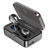 Auriculares Inalámbricos Bluetooth con Micrófono Hi-Fi Deporte Reducción de Ruido Estéreos con Micrófono Manos libres in Ear con 2200mAH Cargador Portátil Para iPhone X/8/7/6/5 Samsung s9/s8/s7/s6 iPad