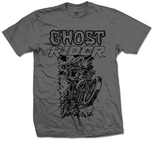 Marvel Comics Herren T-Shirt Ghost Rider Grau (Grey) Small