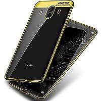 Huawei Mate 10 Pro Hülle, DolDer Chrom Cover für Huawei Mate 10 Pro Schutzhülle TPU Case Silikon Tasche Bumper - gold