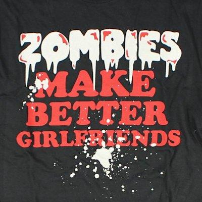 Goodie Two Sleeves Men-Shirt ZOMBIES GIRLFRIEND black Black