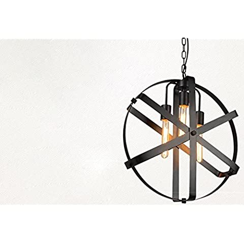 Metallo Vintage creativo FanShaped IndustrialStyle lampadario pendente