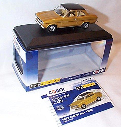 corgi-vanguards-ford-escort-mk1-1300e-amber-gold-car-143-scale-diecast-model