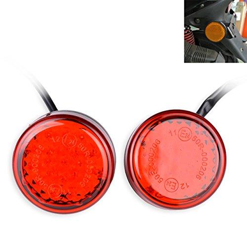 KaTur Wasserdicht Rot 24 LED Runde Reflektoren Heckbremse Stop Begrenzungsleuchte LKW Anhänger RV ATV Motorrad