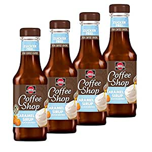 4x Schwartau café sirop de caramel sans sucre (200ml) pour Senseo