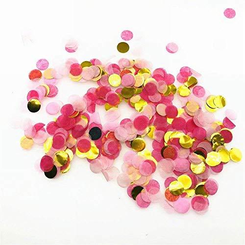JoyFan 10g//Tüte Konfetti, Verschiedene Farben, Rund Hochzeit Papier Handtuch Konfetti Geburtstag Party Dekoration Rose