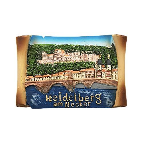 3D Heidelberg Deutschland Kühlschrank Kühlschrankmagnet Tourist Souvenirs Handgemachte Harz Handwerk Magnetische Aufkleber Home Küche Dekoration Reise Geschenk - Kühlschrank Deutschland Magnet
