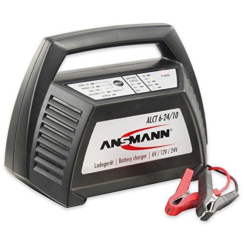Preisvergleich Produktbild Ansmann Autobatterie Ladegerät ALCT 6-24/10 - Vollautomatisches Batterieladegerät für Autobatterien & Bleiakkus mit 6V, 12V & 24V / 10A - Erhaltungsladegerät ideal für PKW, Motorrad, Boot etc.