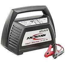 Ansmann 1001-0014 ALCT 6-24/10 - Cargador de vehículos para baterías de automóviles, motos, motocicletas, baterías de plomo-gel de plomo 12V 6V 24V