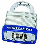 Sterling CPL146 - Candado con combinación (4,6 cm, Acero Laminado, 4 dígitos)