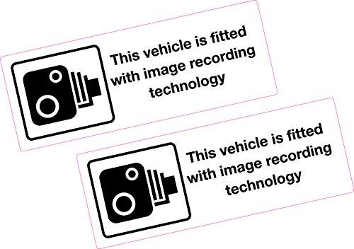 2 x véhicule d'enregistrement d'image Autocollant 150 x 55 mm Vinyle Imprimé Ambulance Taxi van Bus