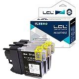 LCL(TM) LC985 LC985BK (3-Pack Negro) Cartuchos de Tinta Compatible para Brother DCP-J125 J315W J515W J140W MFC-J265W J410 J415W J220