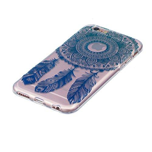 Cover iPhone 6S, Custodia iPhone 6, CaseLover Custodia per iPhone 6S / 6 (4.7 Pollici) Ultra Sottile Trasparente Morbida Gomma Gel TPU Silicone Protectiva Corpeture Flessibile Cristallo Chiaro Liscio  Cacciatore di sogni