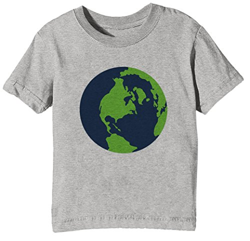 Erde Kinder Unisex Jungen Mädchen T-Shirt Rundhals Grau Kurzarm Größe XL Kids Boys Girls Grey X-Large Size XL (Erde-mädchen T-shirt)
