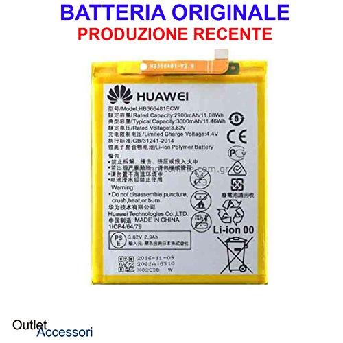 Batteria Pila Originale Huawei P9 HB366481EC W EVA-L09 L19 OEM Interna BULK CORRIERE RICAMBIO Interno Akku Genuine per Cellu