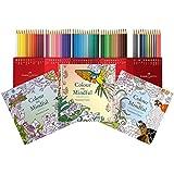 Nuevo Set de regalo: 3Color Me libros para colorear (por favor Nota cuenta talla de adulto) Plus Edición Especial Pack de 60Faber Castell–Lápices de colores