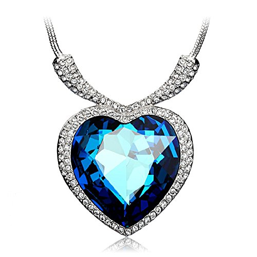 YouBella Gracias Collection Swiss Zircon Jewellery Exclusive Titanic Heart Pendant / Necklace for Women and Girls  available at amazon for Rs.399