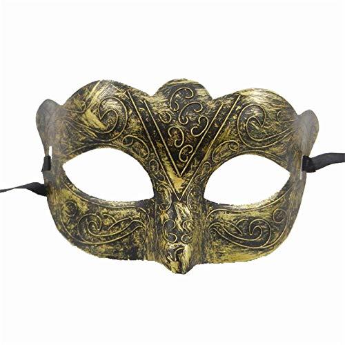 Frauen Kostüm Bösewichte - TURZJH Maske Retro Gold Männer Frauen Maskerade Kostüm Maskerade Maske Silber Bösewicht Augenmaske Für Hochzeit Bithday Party Dekoration-Multi